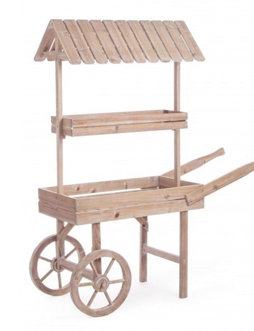 Wooden Cart With Roof