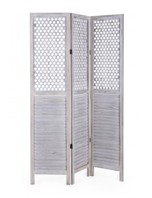 Summer White Wooden Screen Divider